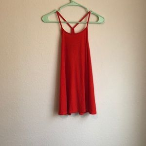 Oversized, bright red tank top from old navy